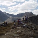 Dalla Costa Monteau, a ovest Cima Percia e il ghiacciaio