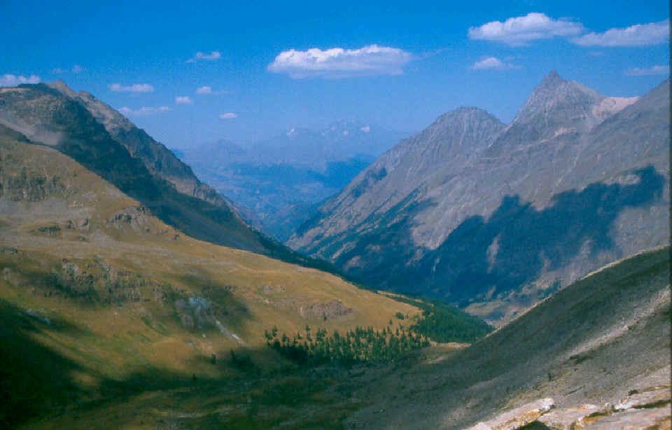 Val Savarenche, a nord-est la Grivola