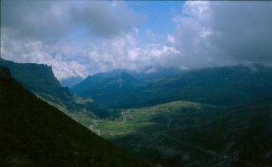 Sguardo verso valle