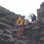 Inizia la discesa in Val D'Ayas