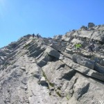 Discesa impegnativa sul versante svizzero