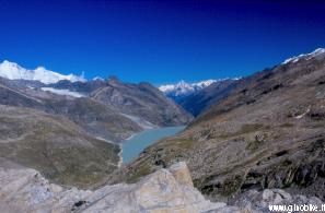 Panorama dalla cima, verso il lato svizzero