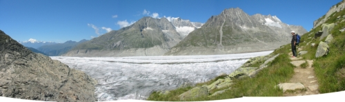 Panoramica sull'Aletsch