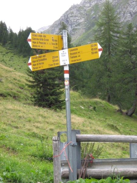 Sentieri segnalati