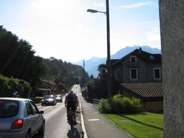 Riazzino, verso Bellinzona